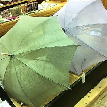 まだまだ活躍*麻の日傘